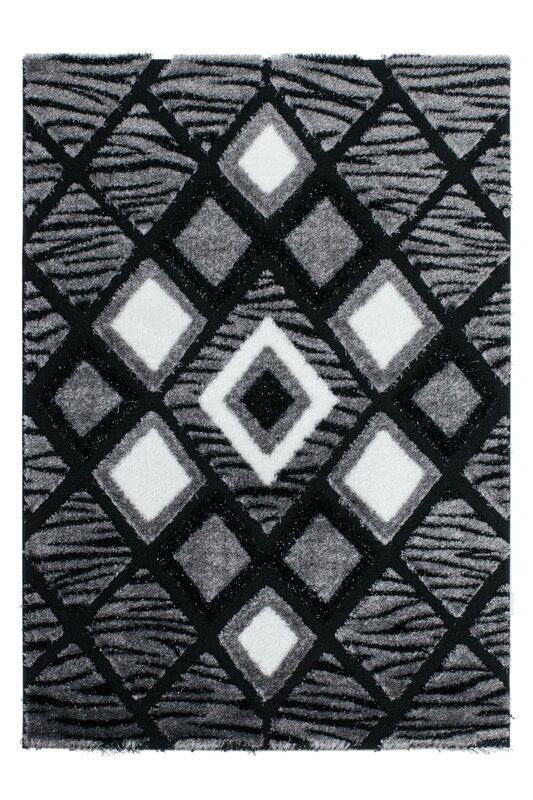 kayoom shaggy teppich sedef in dunkelgrau schwarz. Black Bedroom Furniture Sets. Home Design Ideas