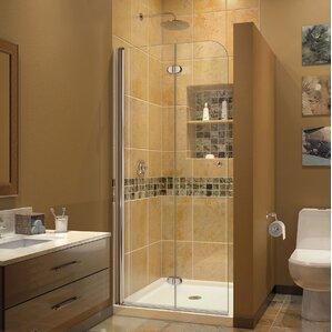 Aqua Fold 29.5  x 72  Clear Glass Shower Door & Shower u0026 Bathtub Doors Youu0027ll Love | Wayfair pezcame.com