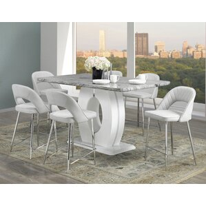 Casiano 7 Piece Pub Table Set