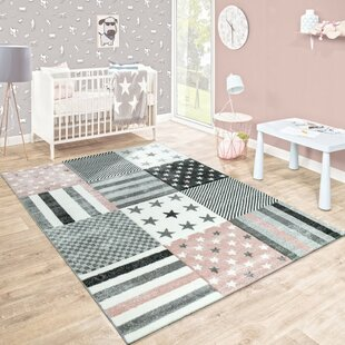 Dax Grey/Pink Rug by Viv   Rae
