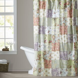 Bauer Patchword Cotton Single Shower Curtain