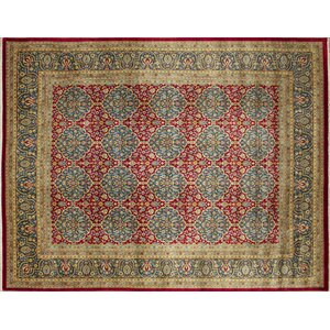 One-of-a-Kind Arthen Hand-Knotted Red Area Rug