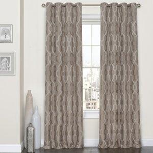 Dennis Geometric Max Blackout Grommet Single Curtain Panel