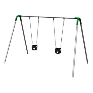 UPlay Today Single Bay Swing Set with Commercial Tot Seats