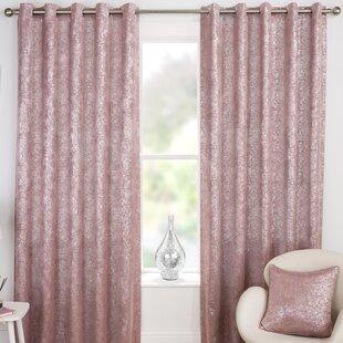 Pink Velvet Curtains Wayfaircouk
