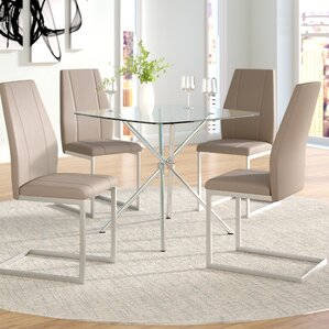 Eta Contemporary 5 Piece Table Set