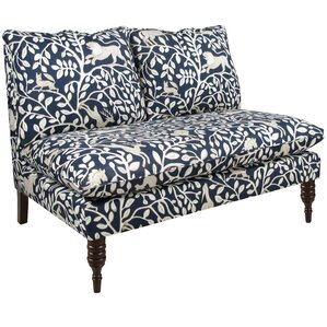 Jeffreys Armless Loveseat in Pantheon Admiral by Darby Home Co