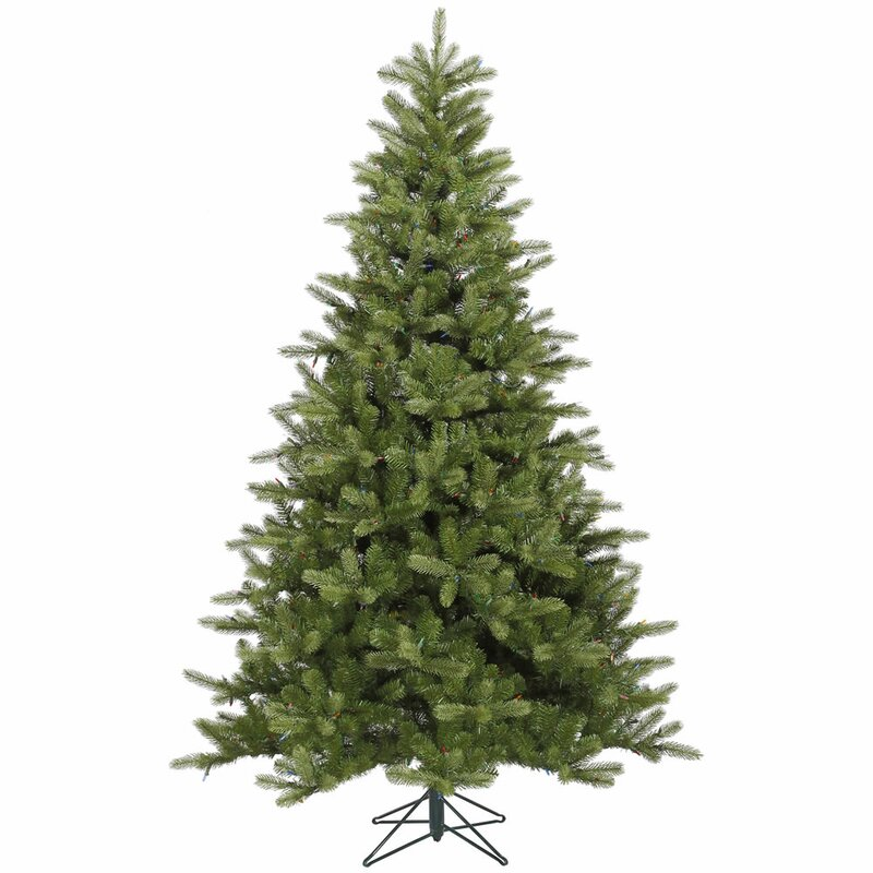 King 9 Green Spruce Artificial Christmas Tree With Stand