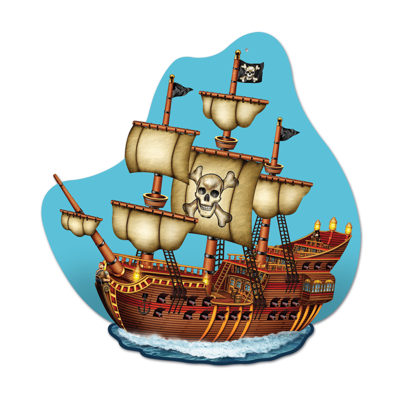 The Beistle Company Pirate Ship Plaque Wall Dcor Wayfair