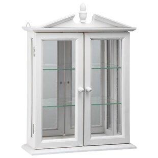Amesbury Manor Hardwood Wall Curio Cabinet
