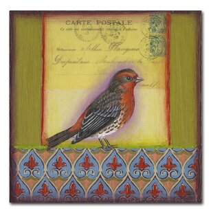 3341ab26824  Small Bird 211  Rachel Paxton Painting Print on Wrapped Canvas. by Trademark  Fine Art