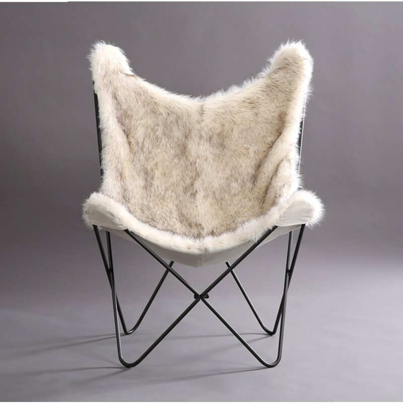 Byram Butterfly Faux Fur Cover Lounge Chair Amp Reviews Allmodern