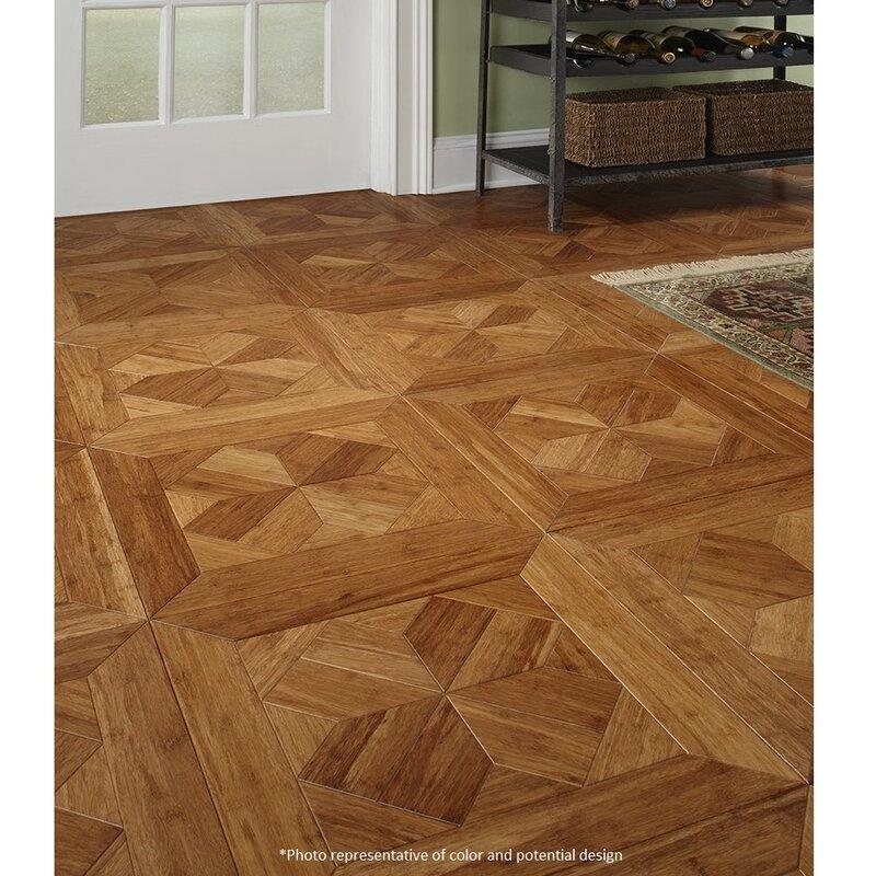 Baroque 15 3 4 Engineered Bamboo Parquet Flooring In Monticello