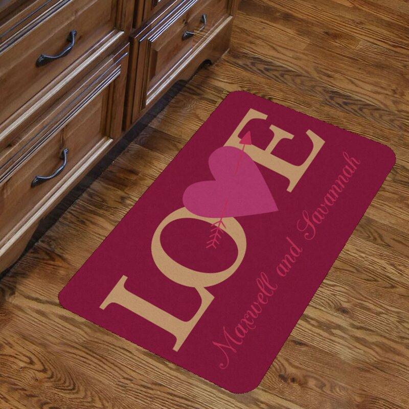 Monogramonline Inc Personalized S Love Indoor Kitchen Mat Wayfair