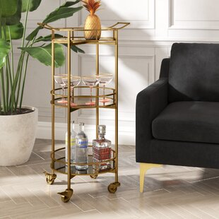 Herald 3 Tier Cylinder Bar Cart
