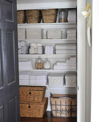 After: Organized Linen Closet