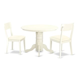Sherlock 3 Piece Breakfast Nook Solid Wood Dining Set Discount