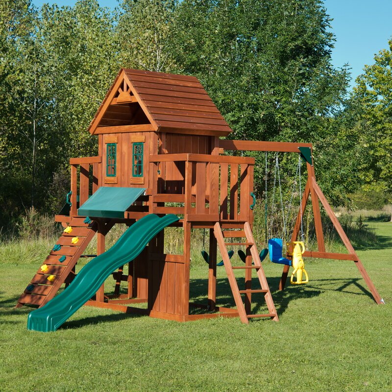 Swing n slide winchester wood complete swing set reviews for Child swing plans free