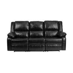 Harmony Series Leather Reclining Sofa by Offex
