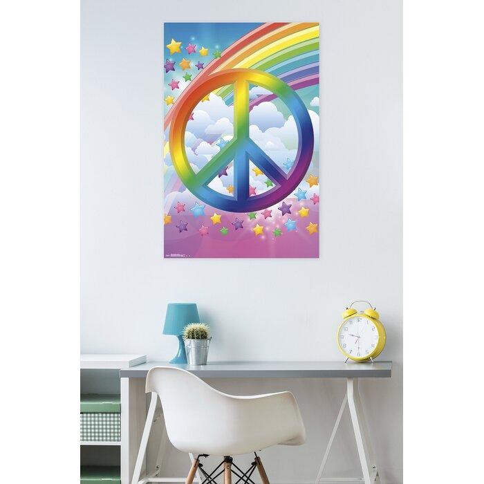 Peachy Peace Sign Rainbows Paper Print Download Free Architecture Designs Licukmadebymaigaardcom