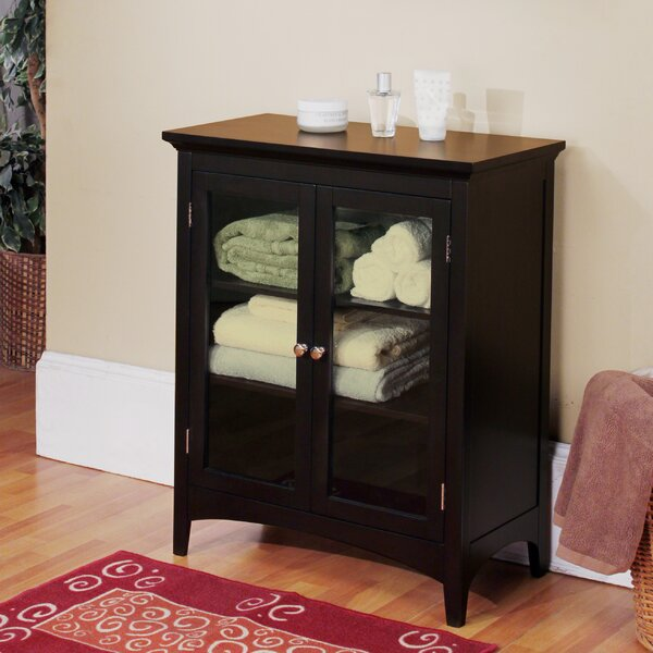 """Free Standing Kitchen Cabinets With Glass Doors: Darby Home Co Ezra 26"""" W X 32"""" H Cabinet & Reviews"""