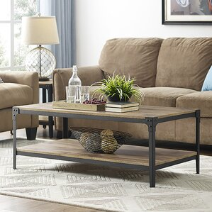 Exceptional Arboleda Rustic Wood Coffee Table