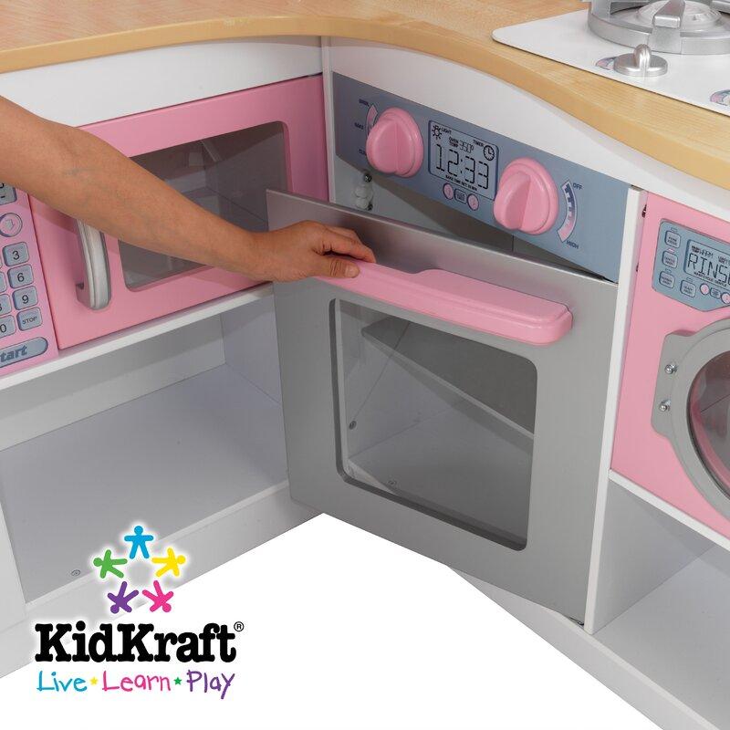 Kidkraft Corner Kitchen kidkraft grand gourmet corner kitchen & reviews | wayfair