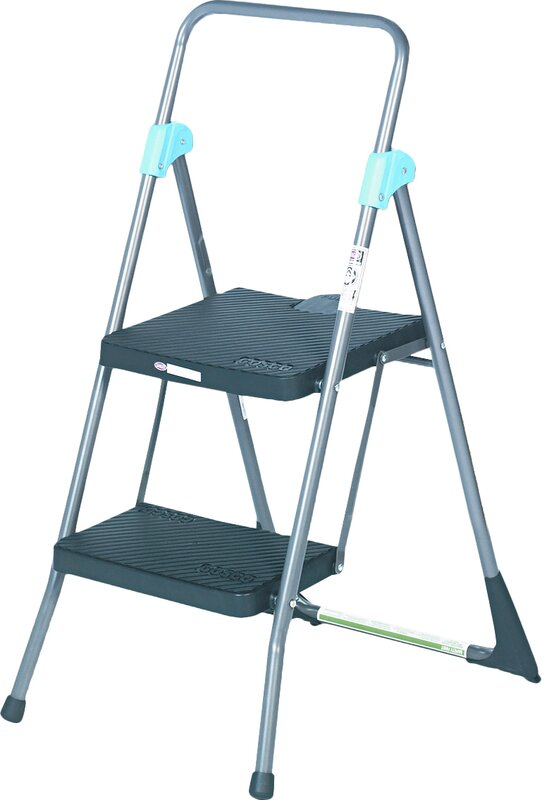 Cosco 2 Step Steel Commercial Folding Step Stool With 300