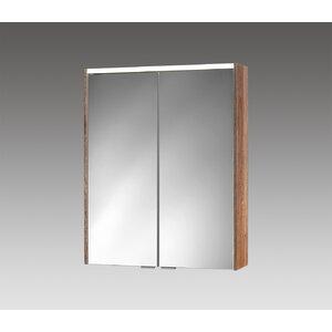 60 cm x 74 cm Spiegelschrank with LED Lighting v..
