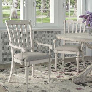 Ornithogale Slat Back Arm Chair (Set of 2)