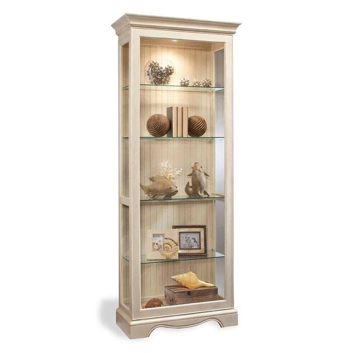 Shelia Lighted Curio Cabinet