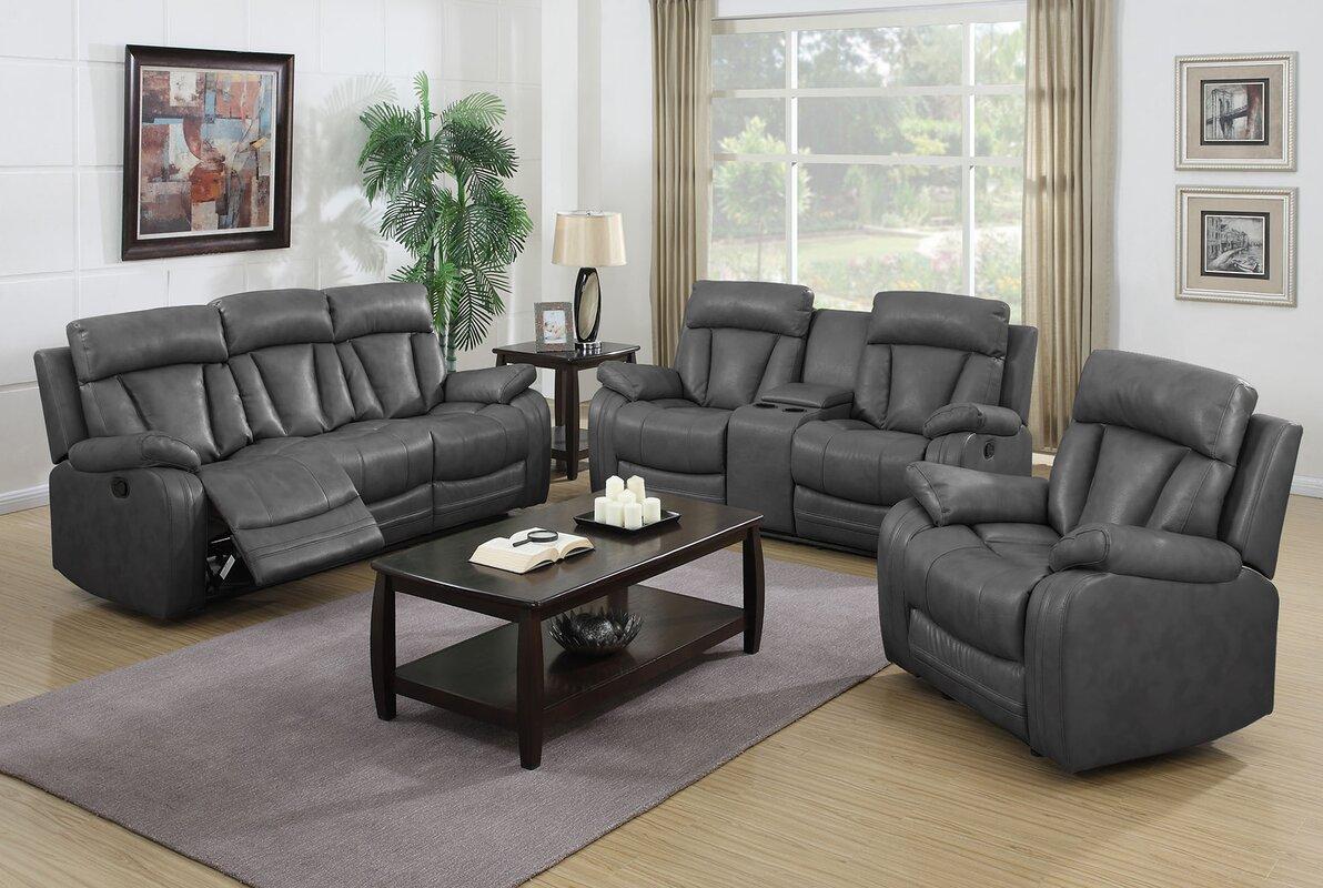 NathanielHome Benjamin 3 Piece Living Room Set & Reviews