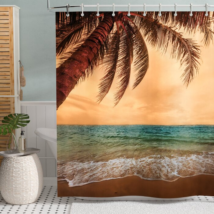 Bay Isle Home Hammond Early Sunset 270 Degrees Print Shower Curtain Reviews
