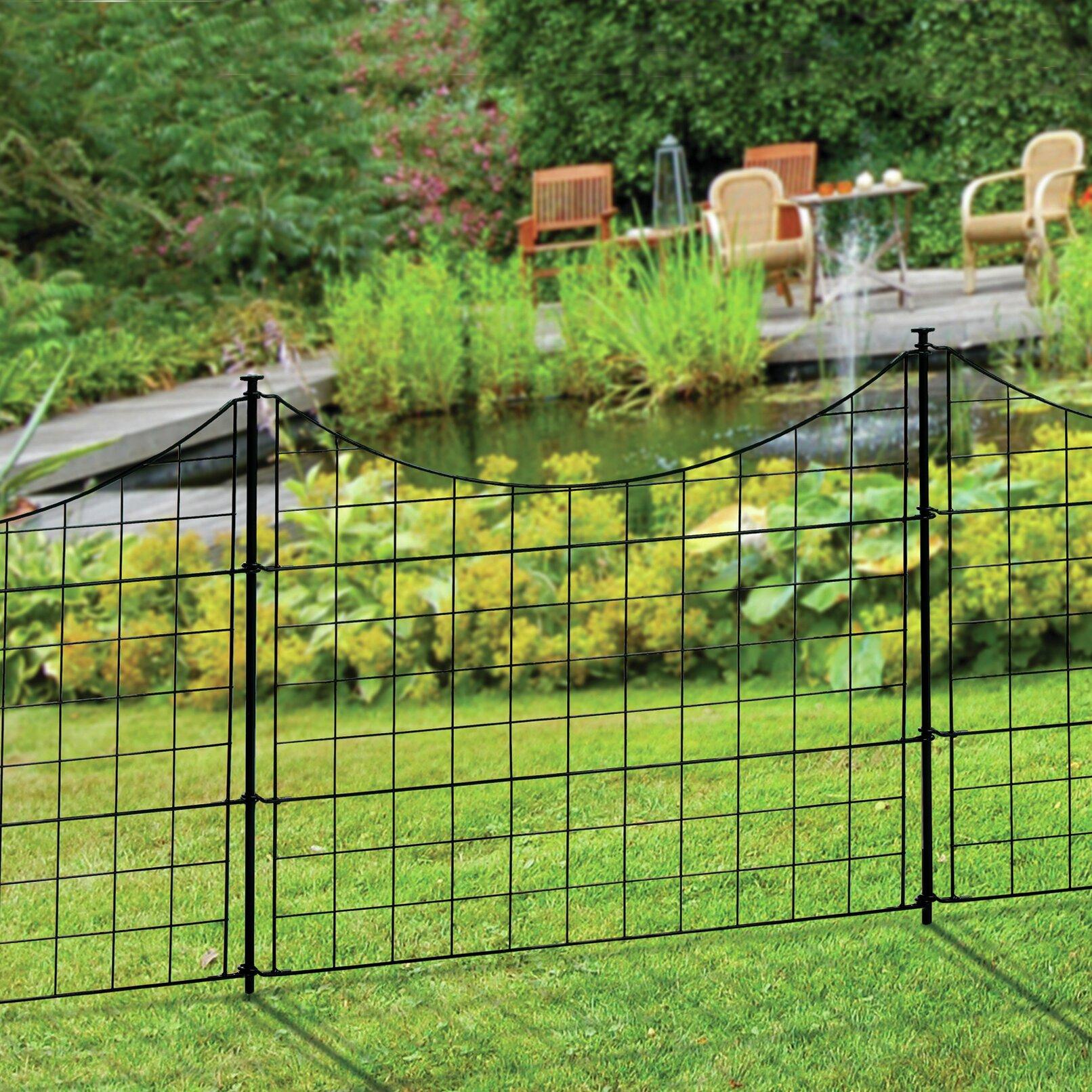 Wrought Iron Garden Fence | Wayfair