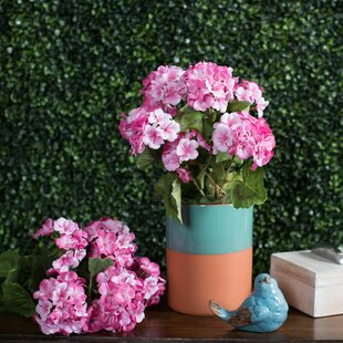 Artificial pink geraniums wayfair quickview mightylinksfo