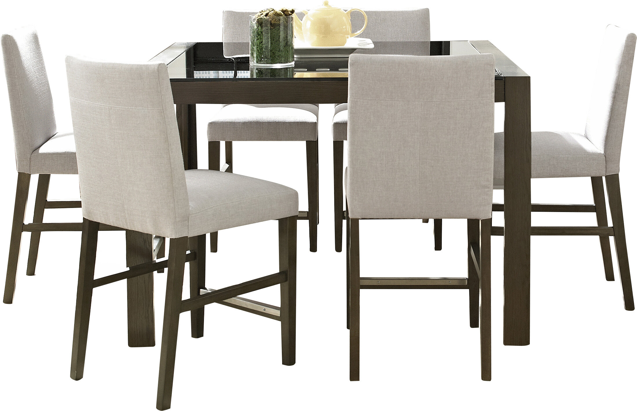 Wade Logan Girard 7 Piece Counter Height Dining Set U0026 Reviews | Wayfair