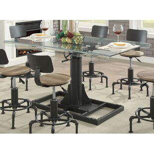 Perfect Gowan Industrial Glass Pub Table