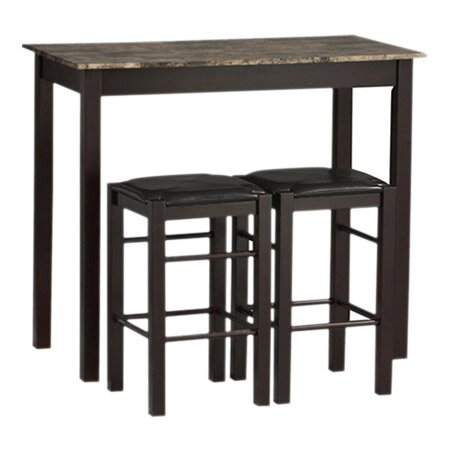 Captivating Prosser 3 Piece Counter Height Dining Set