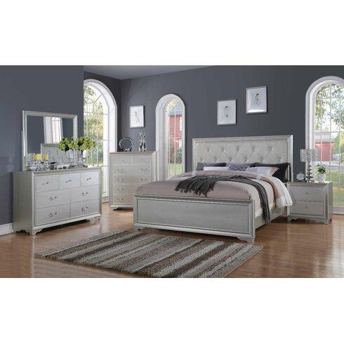 Willa Arlo Interiors Rohan Queen Panel 4 Piece Bedroom Set | Wayfair