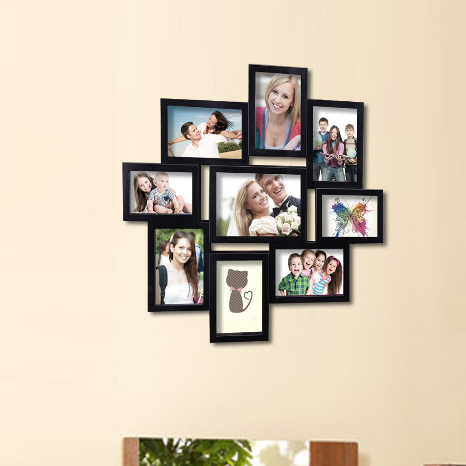 9 Opening Decorative Wall Hanging Collage Picture Frame Reviews Birch Lane