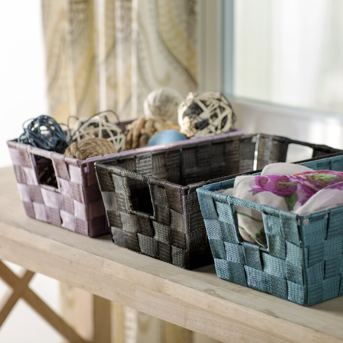 Wayfair Basics Woven Strap Storage Basket