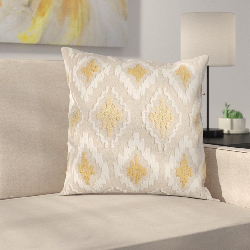 yellow and white bathrooms birch eliana pillow cover amp reviews birch 21745