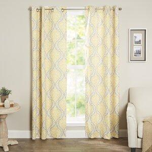 Charlisa Room Darkening Curtain Panel (Set of 2)