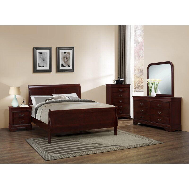 Isola Louis Philippe Sleigh Configurable Bedroom Set