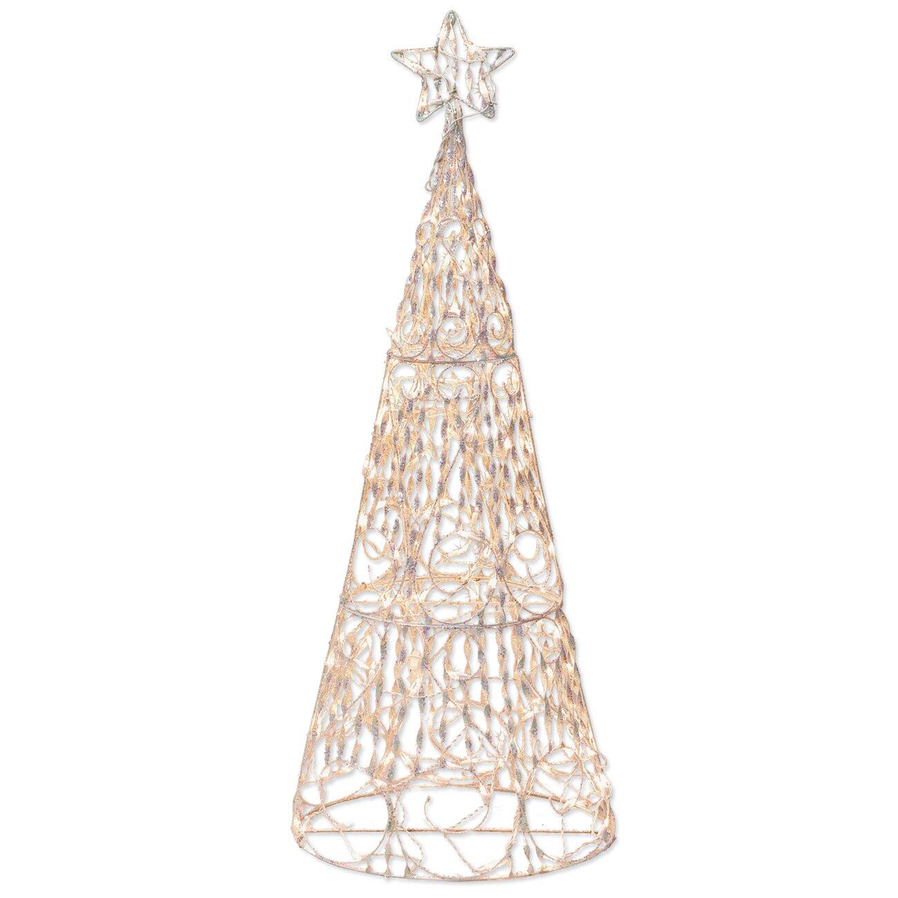 Brite Star 175 Light 3D Cone Tree Sculpture Christmas Decoration ...