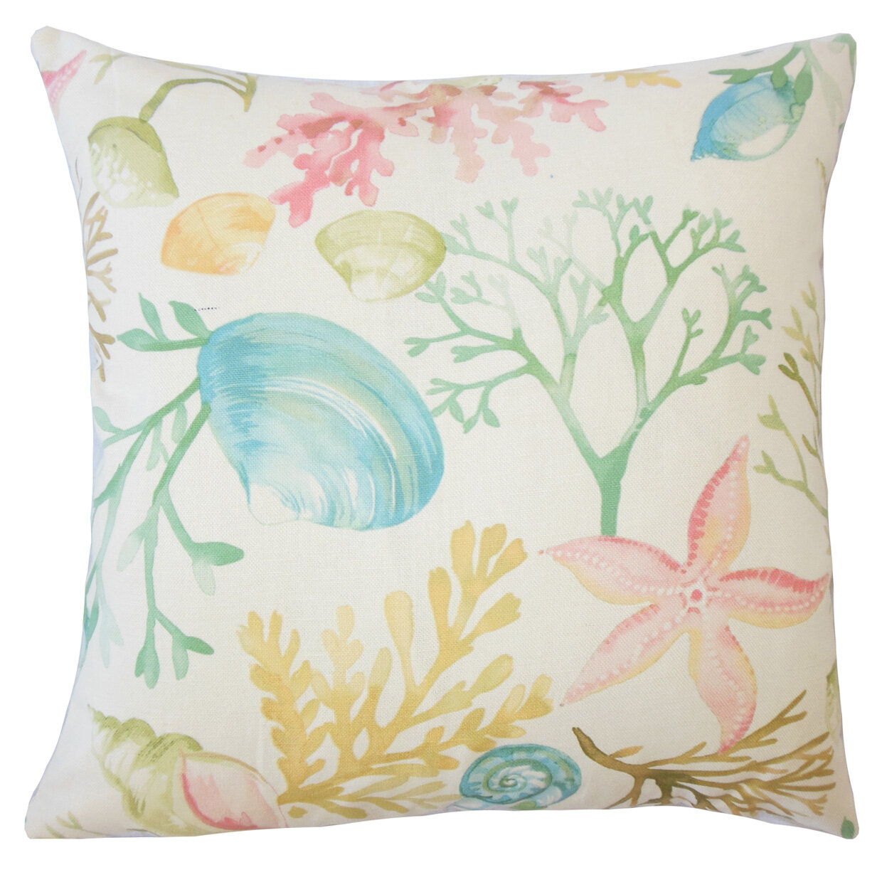 Best Throw Pillow Filling : Rosecliff Heights Harrisville Coastal Down Filled 100% Cotton Throw Pillow Wayfair