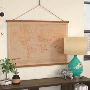 canvas printed world map wall hanging