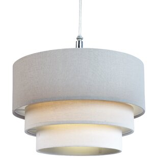 Ceiling lamp shades wayfair 28cm polycotton drum pendant shade aloadofball Image collections