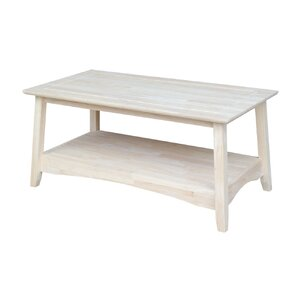 Unfinished Wood Bombay Tall Coffee Table by ..