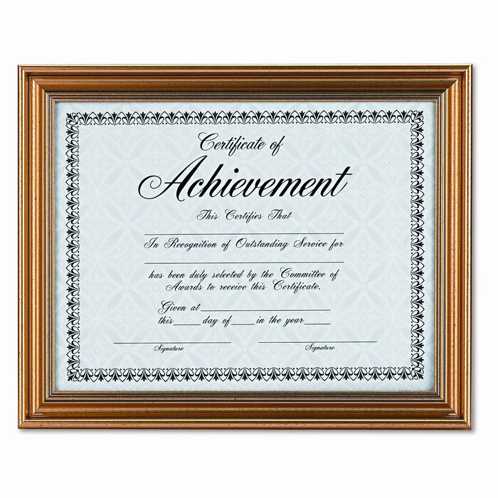 DAX MANUFACTURING INC. Antique Coloured Document Metal Frame with ...